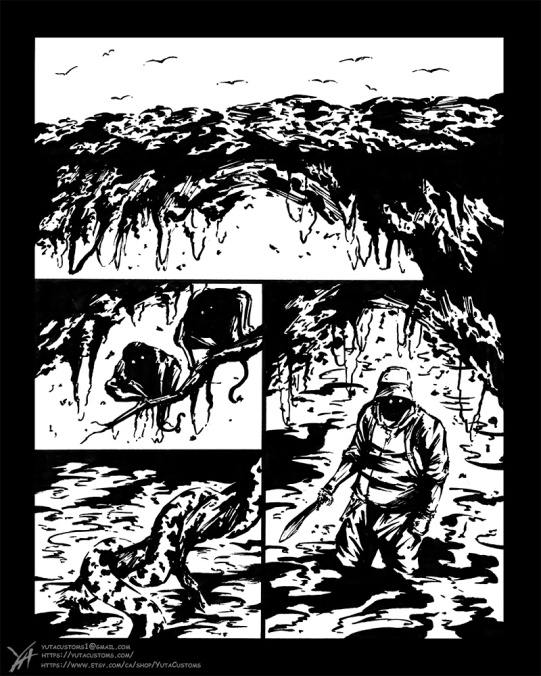 """Inked Ver of the 'Page"""", foused on how to make the most of the few key elements to making comics, light, shadow, and space"""